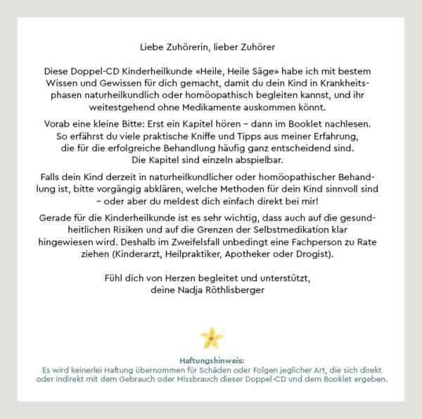 Kinderheilkunde Heile, Heile Säge Nadja Röthlisberger
